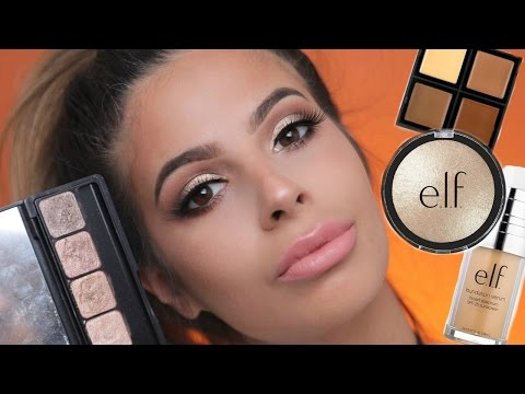 FULL FACE USING ONLY E.L.F. MAKEUP TUTORIAL