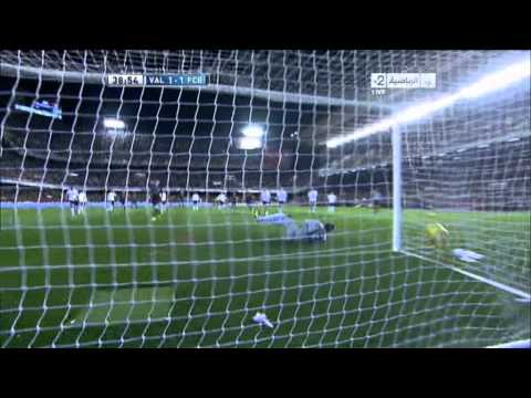 Valencia 1 - 1  Barcelona # Messi 03-02-2013
