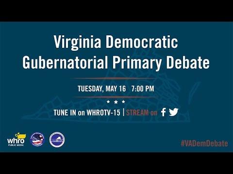 Virginia Gubernatorial Democratic Primary Debate Live