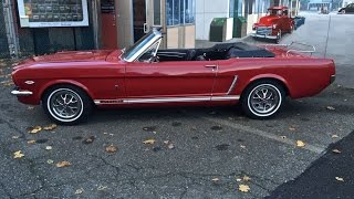 "1965 Mustang red CVT with GT Options "" Sold ""  Drager's International Classic Sales  206-533-9600"