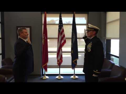 Ensign Pridemore Gets Commissioned