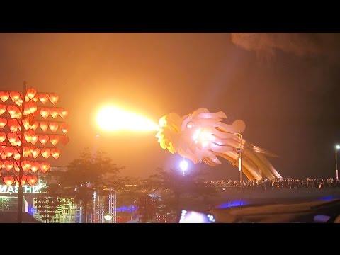 Danang Dragon Bridge Breathing Fire