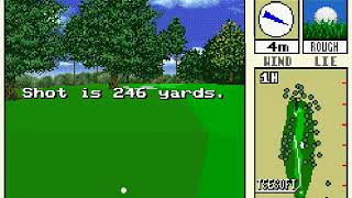 New 3D Golf Simulation   Harukanaru Augusta Japan FROM SNES SUPER NES HYPERSPIN NOT MINE VIDEOS