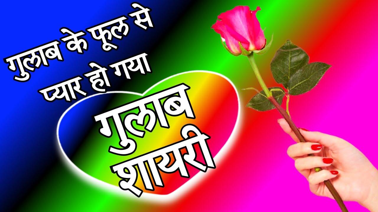 🌹गुलाब के फूल से प्यार हो गया 🌹new gulab shayari in hindi 🌹 best love shayari