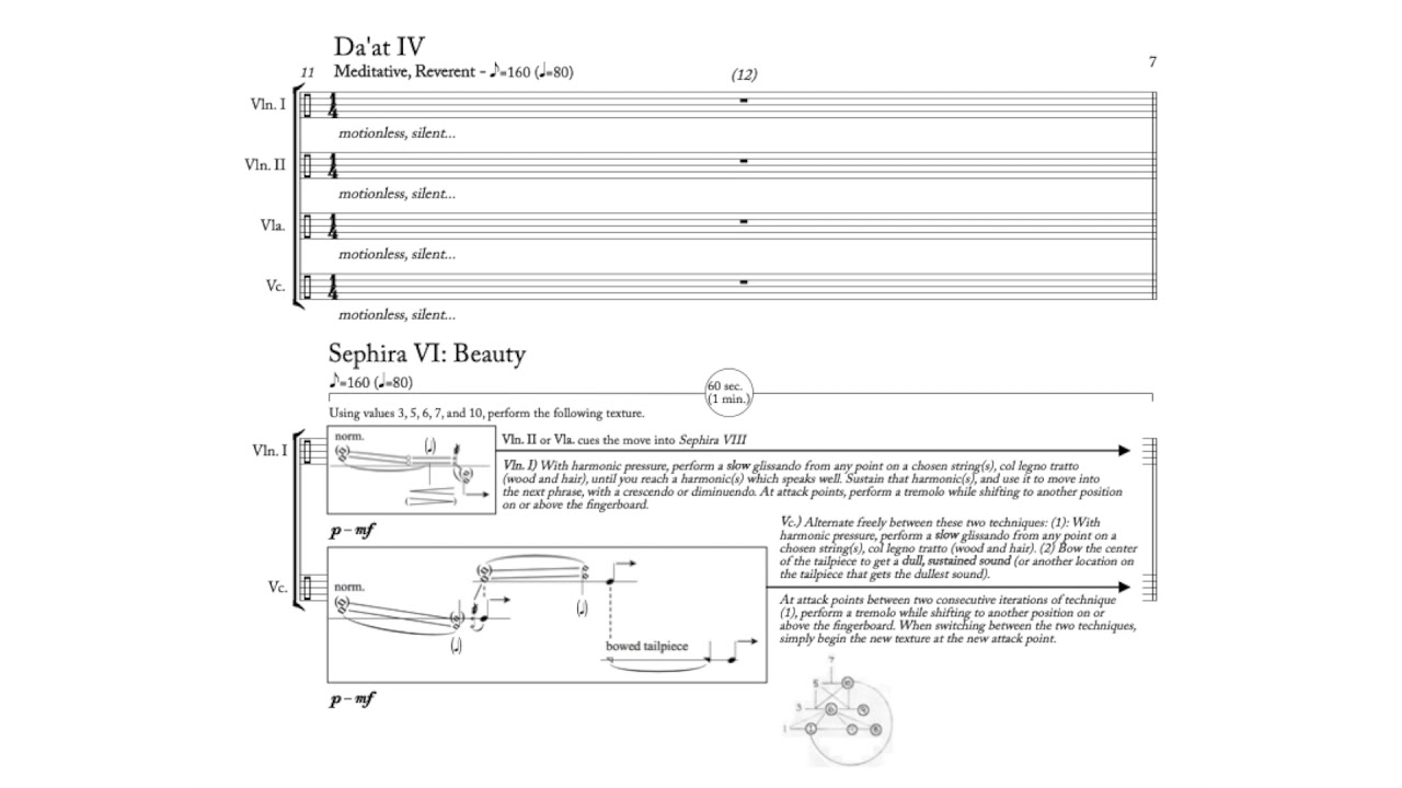 "Nick Virzi: ""The Sephiroth Tree"" for String Quartet (2016) 