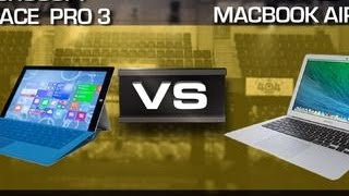 "Prizefight - Microsoft Surface Pro 3 vs. MacBook Air 13"" 2014"