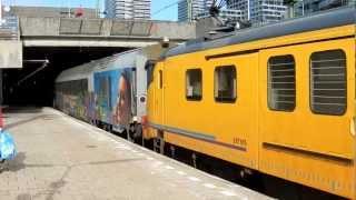 2x mP BRT-91 & BRT-08 met B-Telecom meetrijtuig vertrekken van Den Haag CS