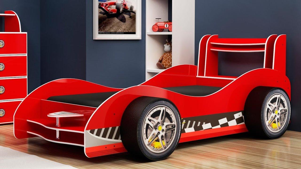Cama carro flash plus vermelho gelius m veis youtube - Cama coche infantil ...