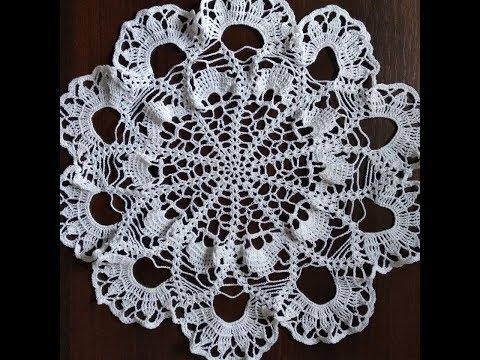 Салфетка крючком ч.2 / Сrochet Napkin P.2 + Pattern
