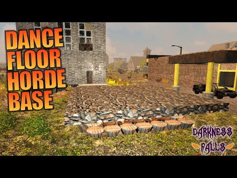 DANCE FLOOR HORDE BASE | Darkness Falls MOD 7 Days to Die | Let's Play Gameplay Alpha 16 | S01E09