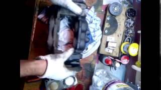 Замена передних тормозных колодок на  Toyota Surf   своими руками