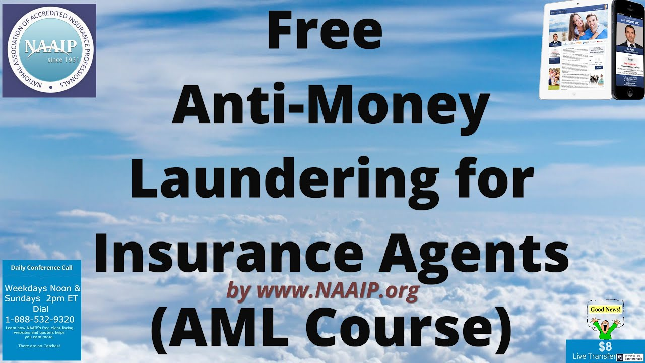 Free Anti-Money Laundering for Insurance Agents