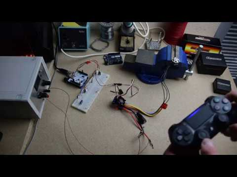 DC motor control using Dualshock 4 - Arduino - ESC