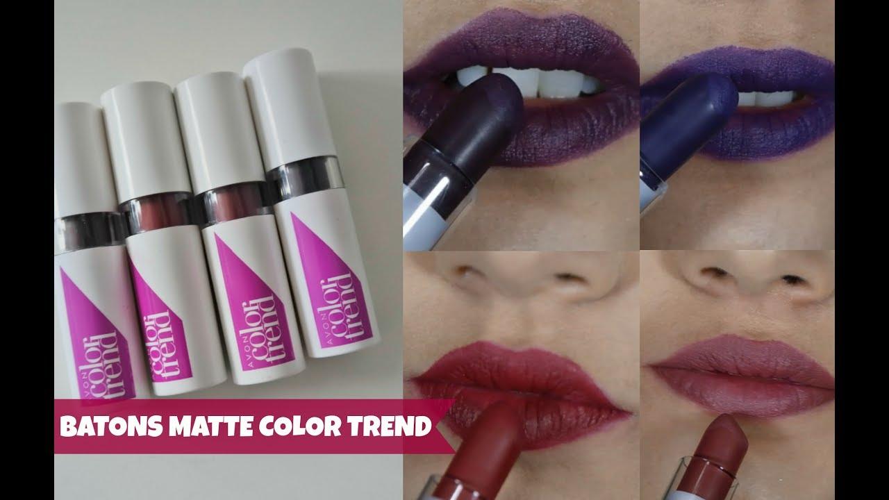 Lan 199 Amento Batons Matte Color Trend Avon S 195 O Bons