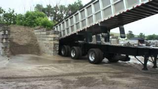 Concrete sand truck unloading @ Beaver Valley Stone