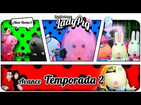 Peppa pig es Miraculous Lady bug !! Avance TEMPORADA 2 !! | Recopilación Cap.2,3 y 4 (Temp. 1)