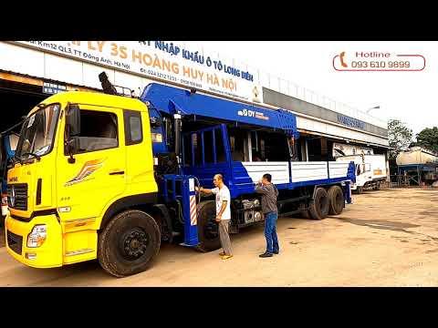 Xe tải gắn cẩu tự hành 15 tấn 6 đốt 2021   cẩu dongyang 15 tấn 6 đốt đời 2021  Xe tải gắn cẩu 15 tấn