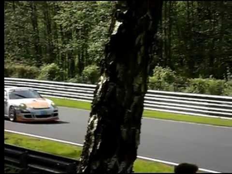 Nurburgring 24 Hours 2012 - Porsche GT3 in slow motion 240fps