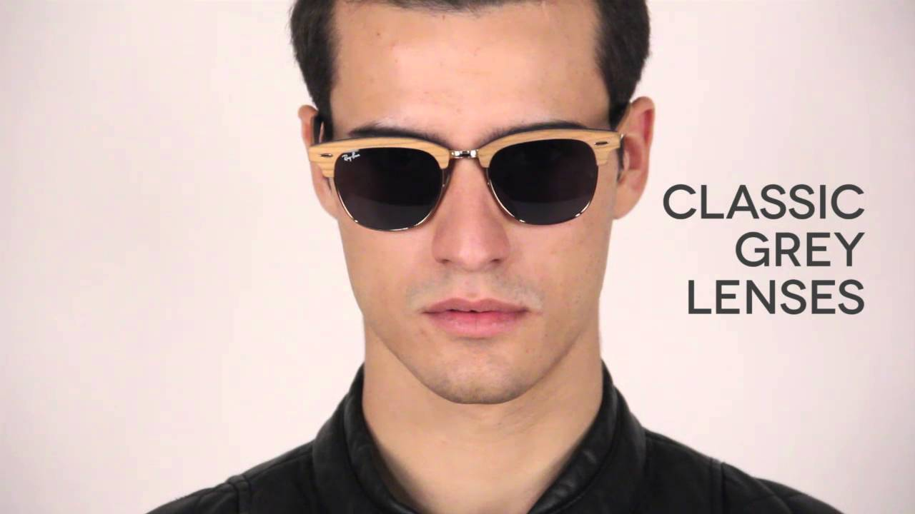 Ray-Ban RB3016M Clubmaster Wood Ray Ban Sunglasses Review   VisionDirectAU  - YouTube 2010af6eb7