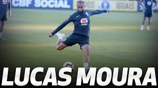 LUCAS MOURA TRAINS WITH BRAZIL AT HOTSPUR WAY