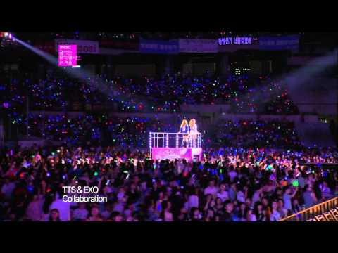 【TVPP】SNSD-TTS - DJ Got Us Fallin' in Love (with EXO) @ Korean Music Wave in Seoul Live