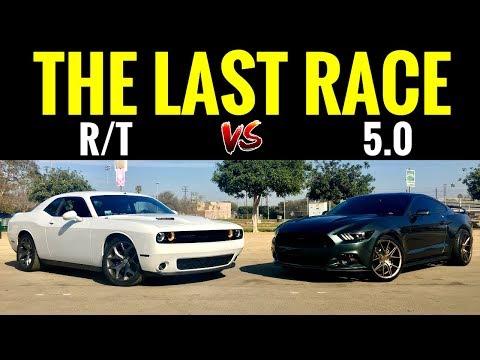 AUTO Mustang GT 5.0 vs AUTO Challenger RT 5.7L | STREET RACE!