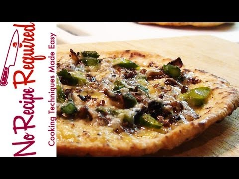 Mushroom & Asparagus Flatbread Pizza