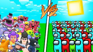 AMONG US VS BRAWL STARS ORDUSU !! 😱 - Minecraft
