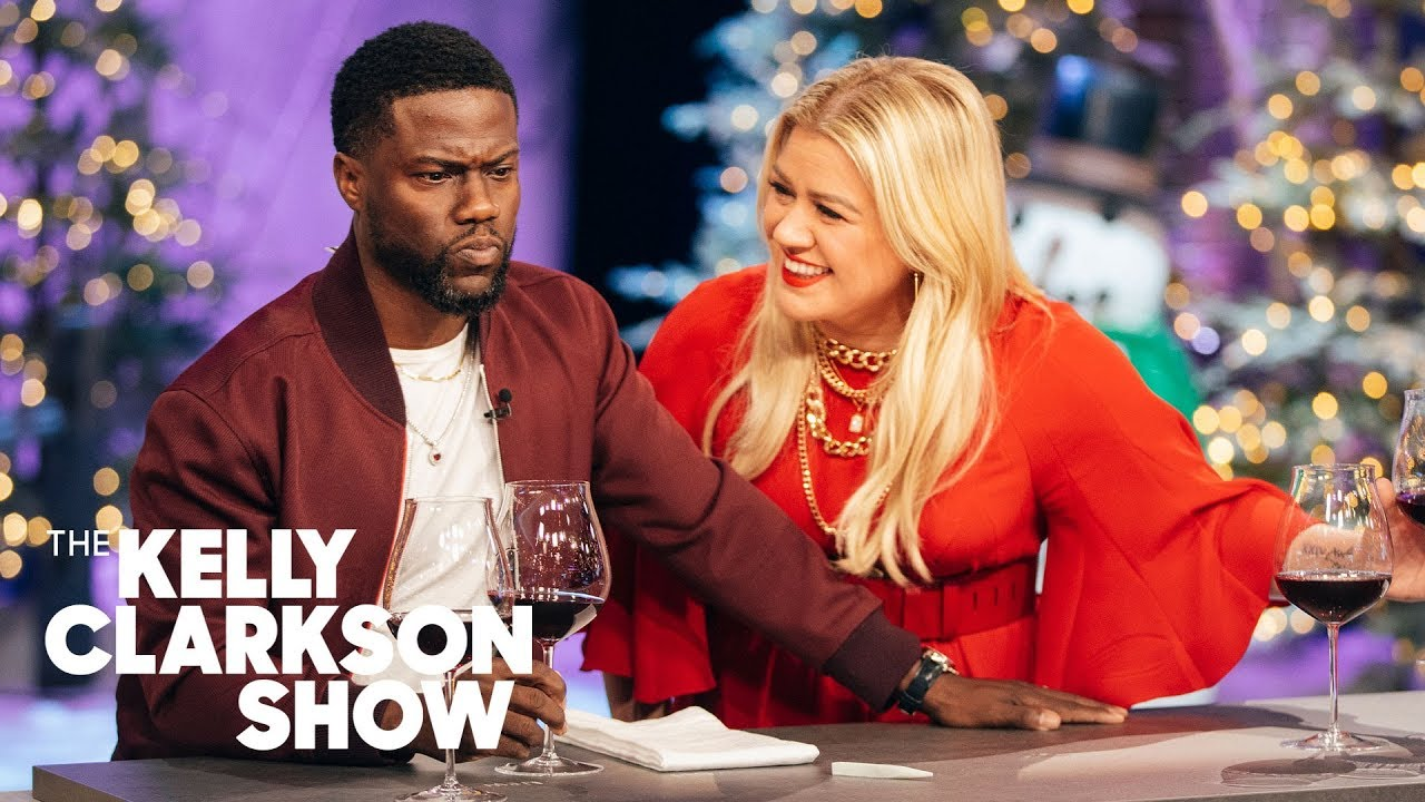 Kevin Hart And Kelly Can't Stop Laughing During This Wine-Tasting Demo