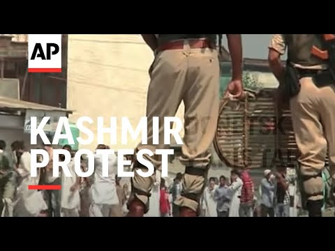 Troops use teargas and pellet guns to disperse protesters after Eid prayers