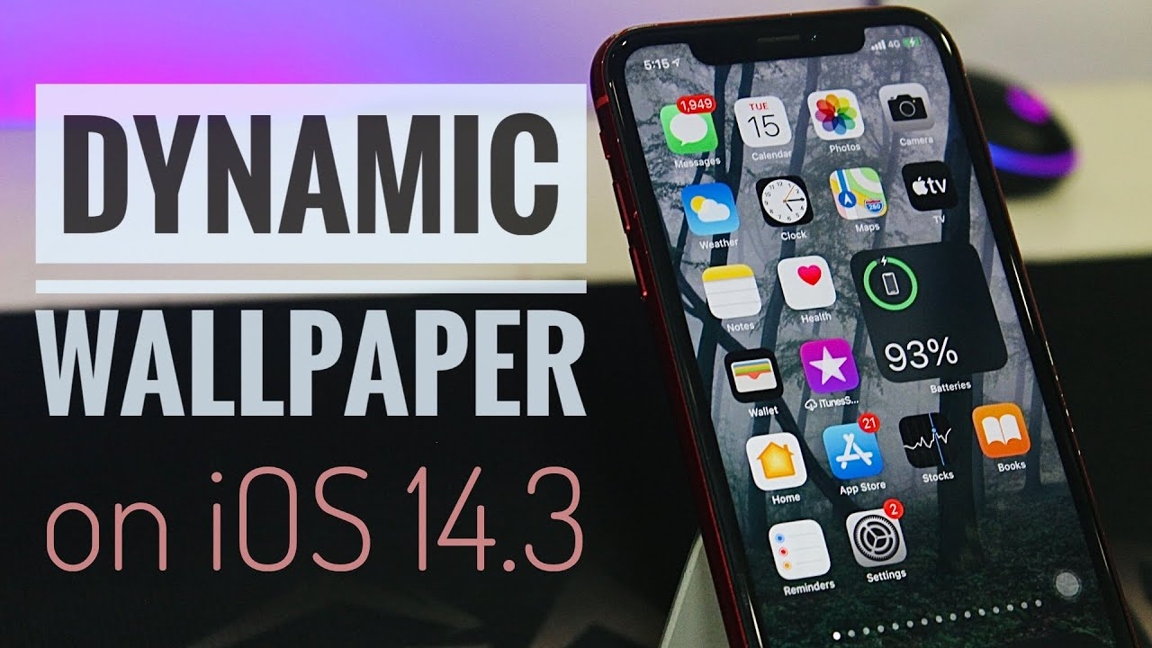 Dynamic Wallpapers On Ios 14 3 Youtube