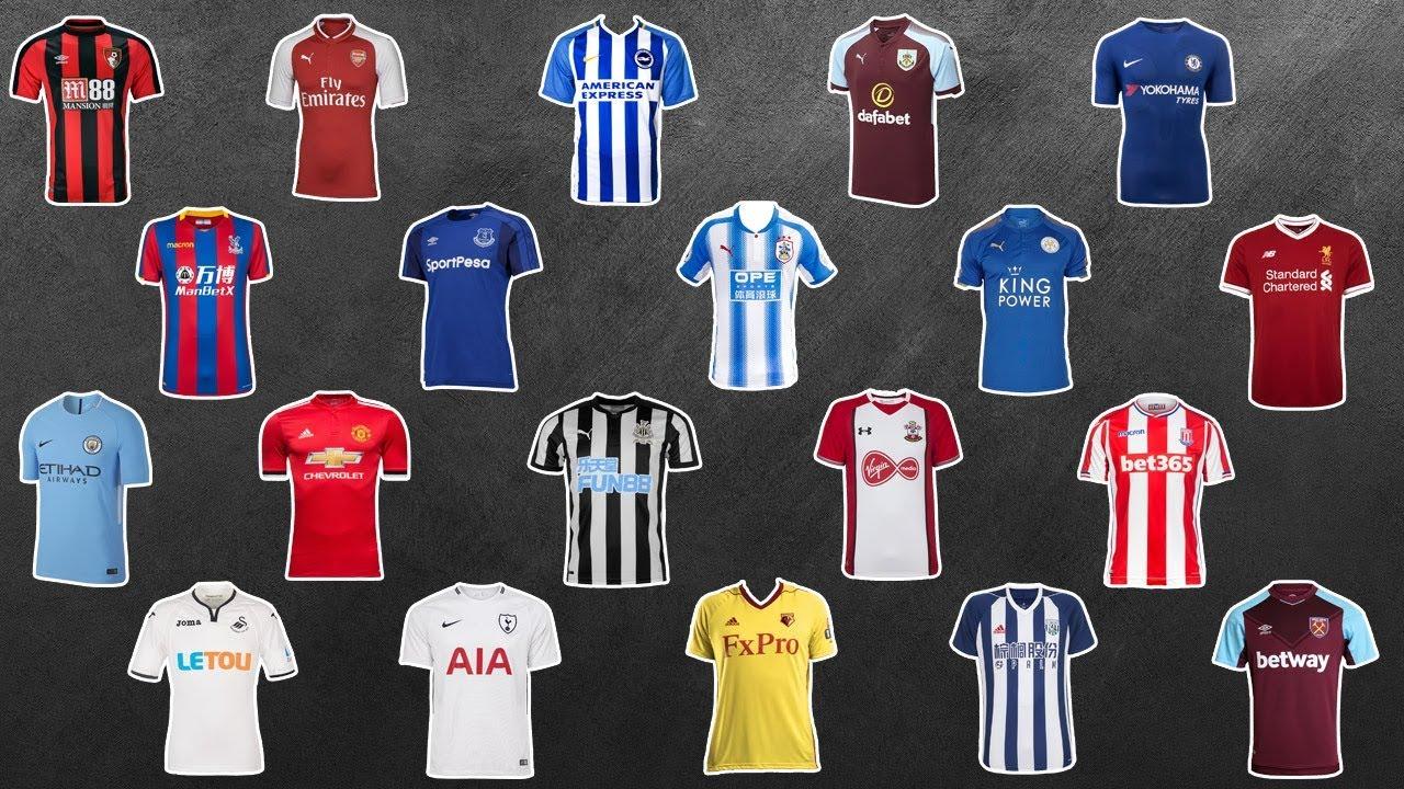 super popular b4026 b4ed9 All New Premier League Kits Season 2017-2018