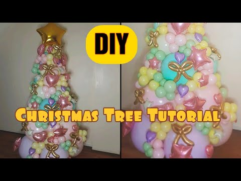 Christmas Tree Tutorial| DIY| Balloon Garland| PART 1