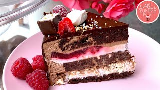 Learn How To Bake A $200 Chocolate Mousse Raspberry Cake!