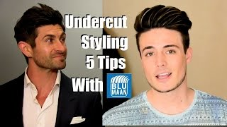 Undercut Hairstyle Tutorial  | 5 Styling Tips For Medium Length Hair
