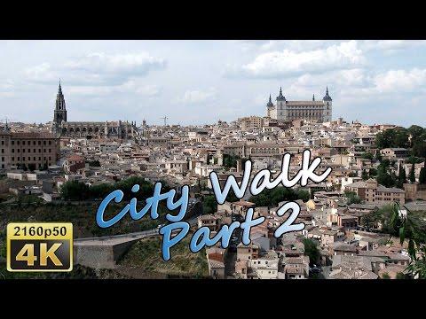 Toledo, City Walk, Part 2 - Spain 4K Travel Channel