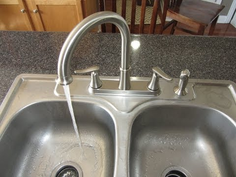 kitchen sink faucet hook up