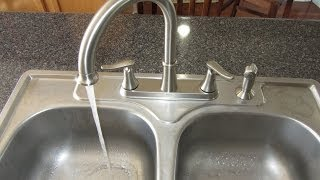 INSTALLING A KITCHEN FAUCET - HOW TO
