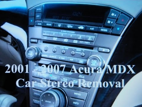 How to Acura MDX car Bose Stereo Removal and Replacement