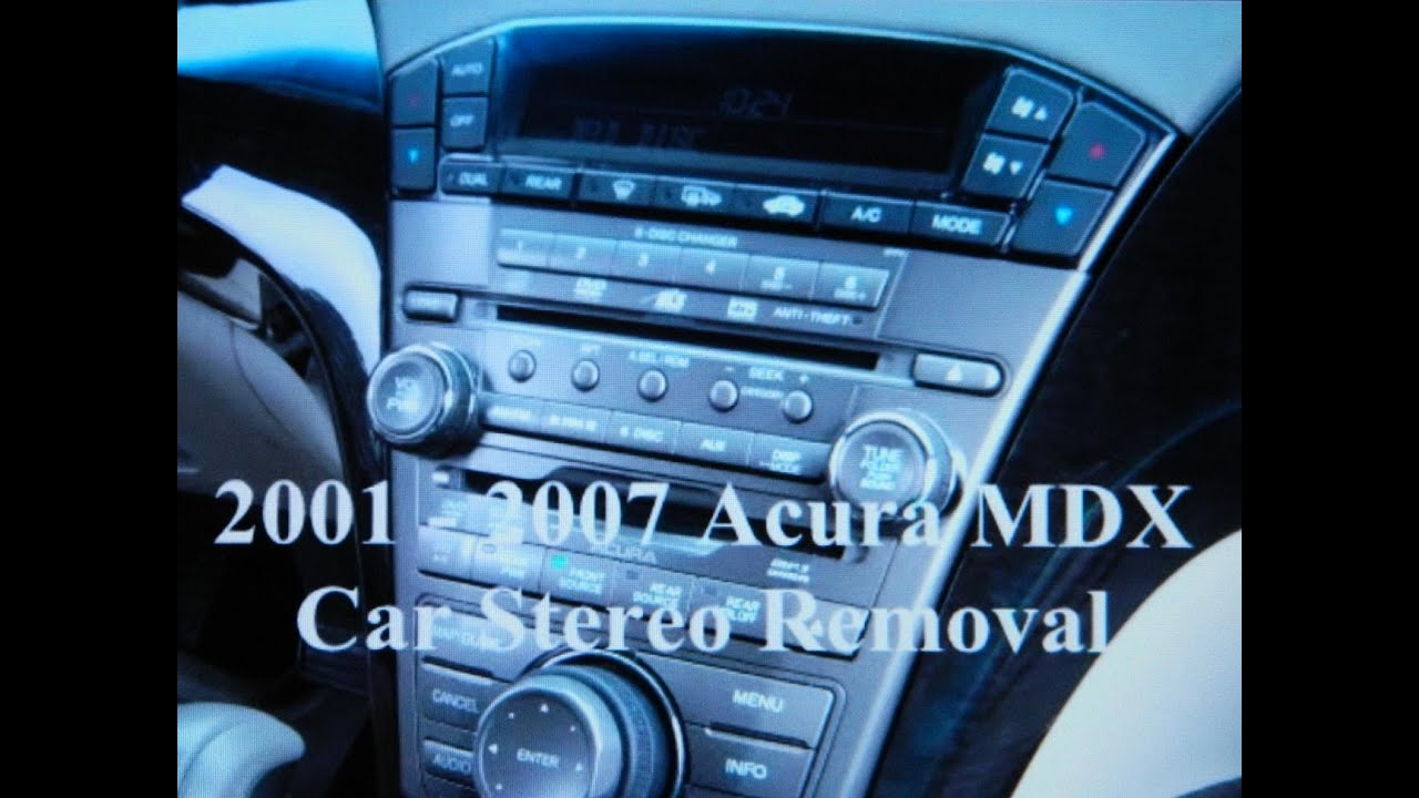 How to Acura MDX car Bose Stereo Removal and Replacement - YouTube