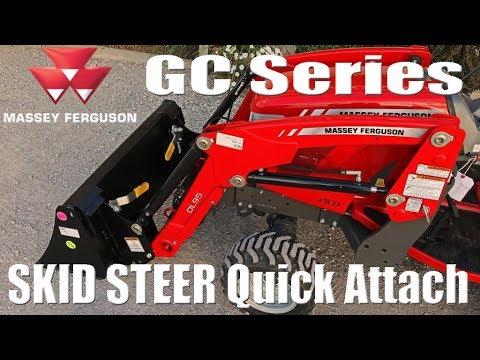 Massey Ferguson GC Series: DL95 Loader Skid Steer Quick Attach Option