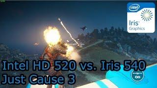Intel HD 520 vs Iris 540 - Just Cause 3 - i3-6100U vs. i5-6260U