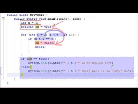 Lab 3.B1. Kiểm tra số nguyên tố bằng Java