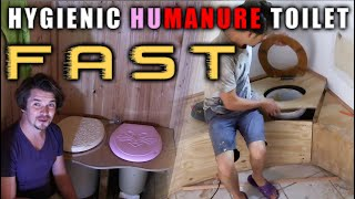 🛠️ Hygienic smell free humanure toilet - FAST