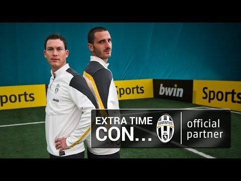 Extra time con i difensori della Juventus Bonucci e Lichtsteiner