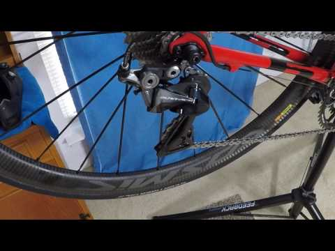 Setting B screw, limit screws, and indexing the 9100 rear deraileur