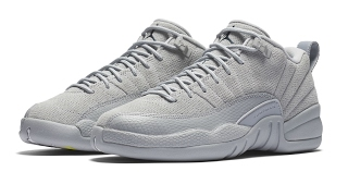 Air Jordan 12 Low Grey • KicksOnFire.com