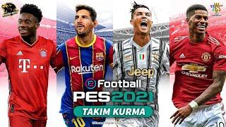 eFootball PES 2020/21 - myClub/Ana Lig Takım Kurma (Forma, logo yapımı vs.)