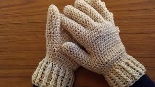 كروشيه قفازات بالأصابع -  crochet gloves with fingers