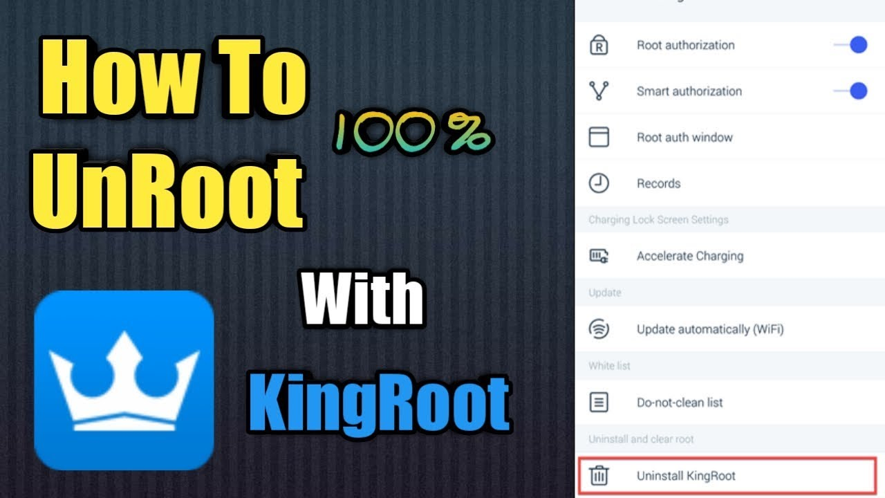 How To Unroot Any Android Mobile With KingRoot WithOut PC